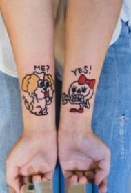 紋身情侶清新 適合做情侶紋身的一組小清新紋身圖案