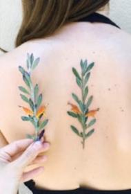 纹身植物图片 很小清新的一组花卉植物纹身图片