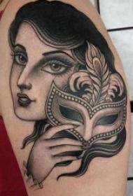 人物纹身图案女  多款风格各异的百变女郎人物纹身