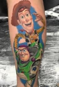纹身图卡通 一组卡通动漫人物的纹身图片