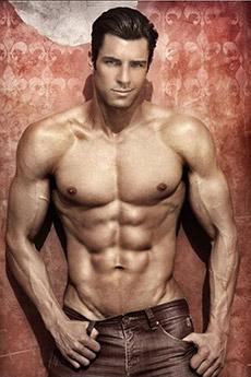 欧美肌肉男模帅哥写真图片