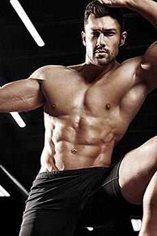 欧美健身肌肉男摄影写真图片