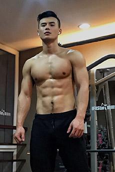 肌肉帅哥崔凯峰教练迷人写真图片