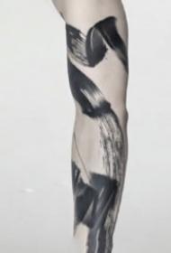 写意纹身 极简写意的中国风水墨纹身图片