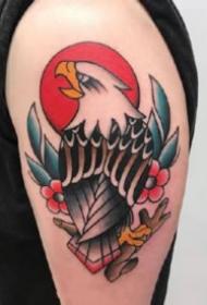 手臂上27款彩色紋身oldschool小臂紋身圖片