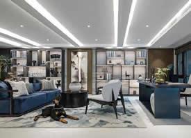 284 m2 简美式清雅别墅装修效果图欣赏