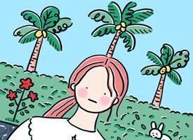 一组小清新手绘插画卡通壁纸图片