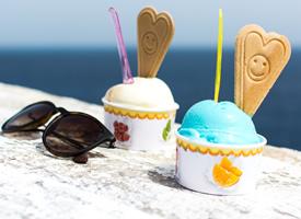 清凉夏日冰淇淋高清桌面壁纸