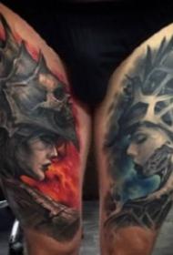 3d逼真的9张欧美写实纹身图案