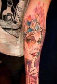 暗水彩纹身 9款漂亮的一组暗色水彩纹身图