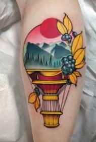 创意彩色纹身 9张彩色好看的创意手臂纹身图片