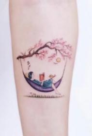 童话纹身 9张童话风格的小清新彩色纹身图片