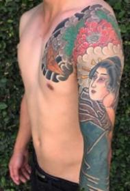 传统花臂纹身 9张传统风格的花臂纹