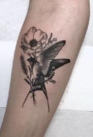 飞燕纹身 9张灵巧的小鸟燕子主题纹身图片
