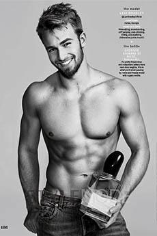 欧美男模模特香水广告写真大片