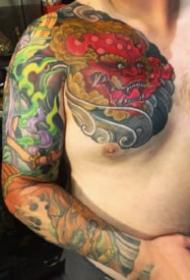 日式传统的一组花臂花腿?纹身图片欣赏