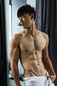 肌肉帅哥小鲜肉私房照图片