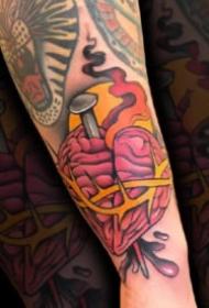 oldschool小臂纹身 18款彩色oldschool风格的小手臂纹身图