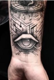 黑色眼睛纹身主题的9张纹身图片