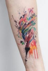 9張水彩色的創意唯美小清新紋身圖片