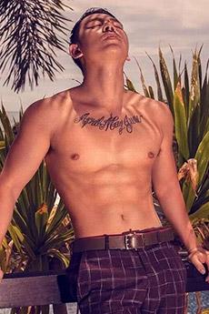 性感男模肌肉帅哥生活照图片