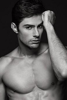 欧美男模肌肉帅哥Diego Rovo黑白写真照片