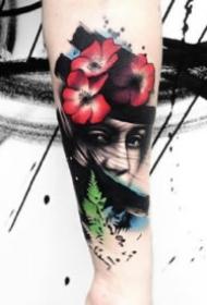 水墨紋身 9款超個性的創意水墨紋身圖案