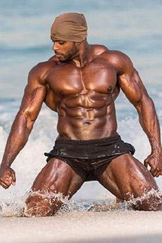 歐美黑人健美肌肉藝術照片