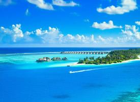 唯美清新藍色大海風景桌面壁紙