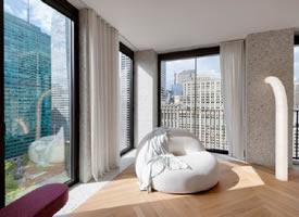 曼彻斯特129㎡L形高端优雅住宅公寓