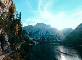 山川湖泊唯美風景桌面壁紙