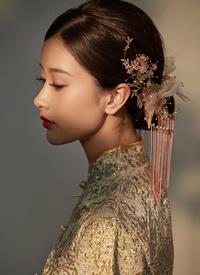 不同的新娘发型散发着不一样的韵味