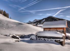 一组超美的纯白唯美雪景高清图片