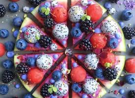 一組超級好看又美味的水果拼盤圖片欣賞