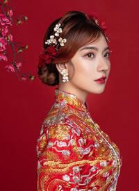 集古典秀美与一身韵味十足的中式新娘造型