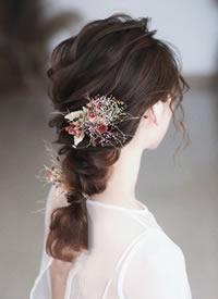 一组日系慵懒新娘发型图片欣赏