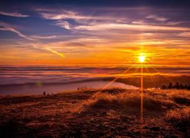 唯美落日風景高清桌面壁紙欣賞