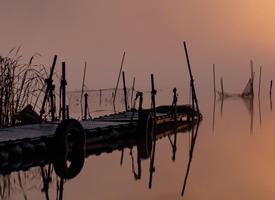 日落碼頭風景手機壁紙圖片欣賞