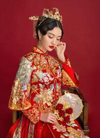 一组西式中式不同韵味的新娘发型
