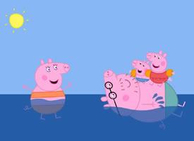 可爱和谐的小猪佩奇一家人