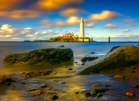 海邊的燈塔美景圖片欣賞