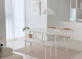 極簡的白色系的家居裝修效果圖
