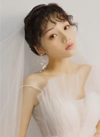 羊毛卷的新娘子美的不要不要妆感少女感十足