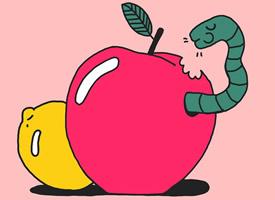 粉色艺术插画手机壁纸图片