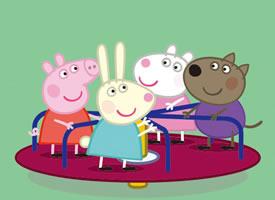 和小伙伴玩的很开心的小猪佩奇