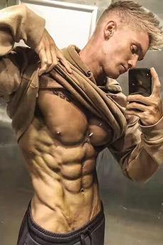 歐美白人肌肉帥哥寫真照片
