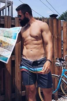 歐美型男腹肌誘人照片
