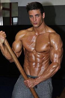 歐美肌肉硬漢健身房照片