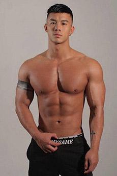 中國型男肌肉帥氣照片