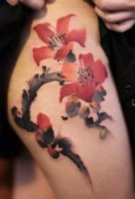 18款水墨风格的纹身刺青图片赏析